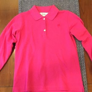 Lilly Pulitzer Girls Long Sleeve Polo - Size 10